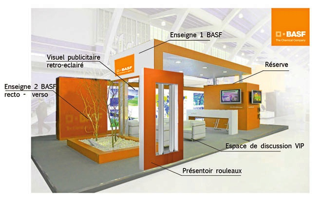 Nos r alisations professionnel cabinet de design et for Agencement de stand